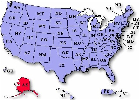UP To Payday Loans In Alaska USA Instant Approval - Alaska usa map