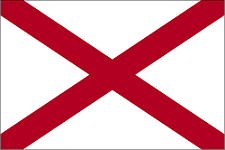 Flag of Alabama, USA