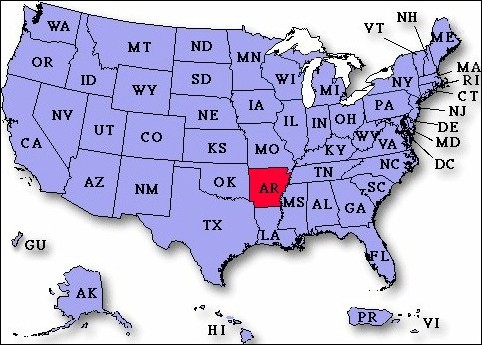 UP To Payday Loans In Arkansas USA Instant Approval - Arkansas usa map