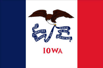 Flag of Iowa, USA