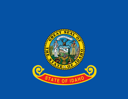 Flag of Idaho, USA