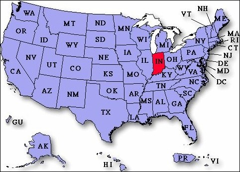 UP To Payday Loans In Indiana USA Instant Approval - Indiana map of usa