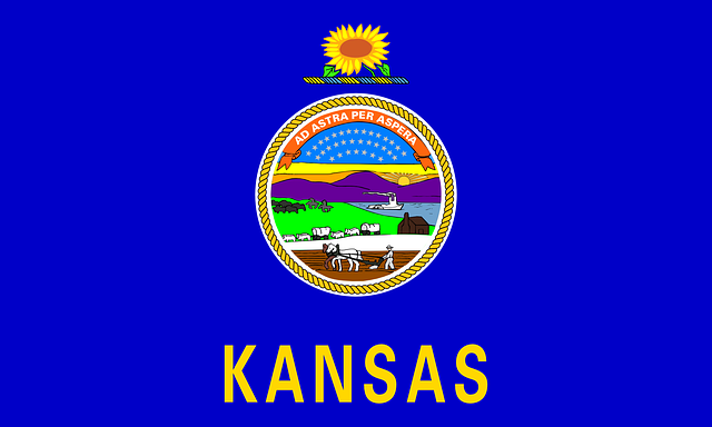 Flag of Kansas, USA