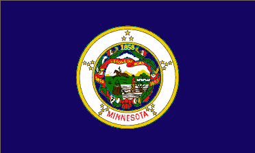 Flag of Minnesota, USA