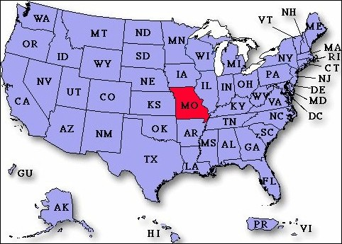UP To Payday Loans In Missouri USA Instant Approval - Missouri in usa map