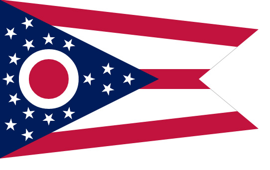 Flag of Ohio, USA