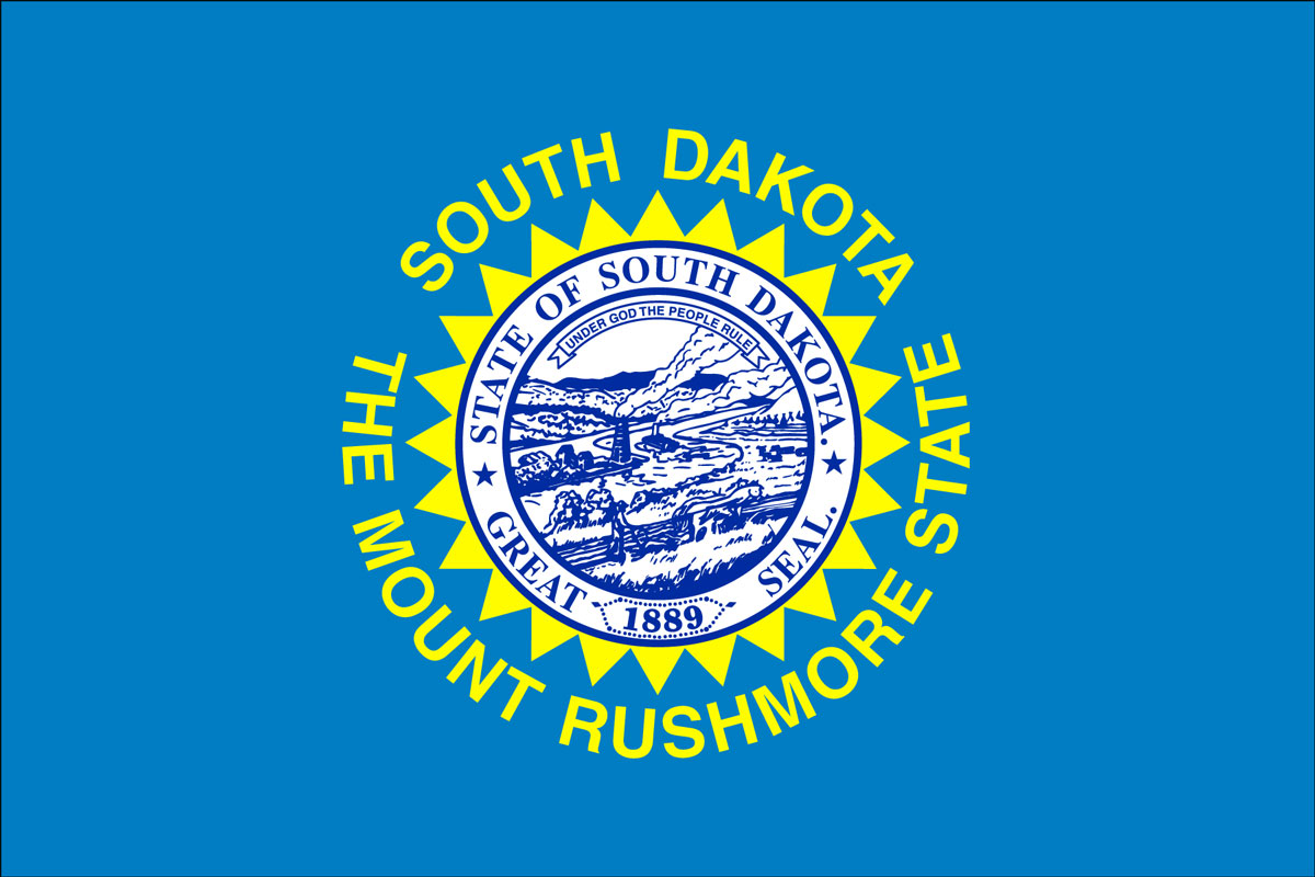Flag of South Dakota, USA