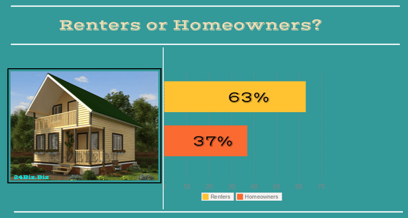 borrowers in Hawaii USA renters or homeowners