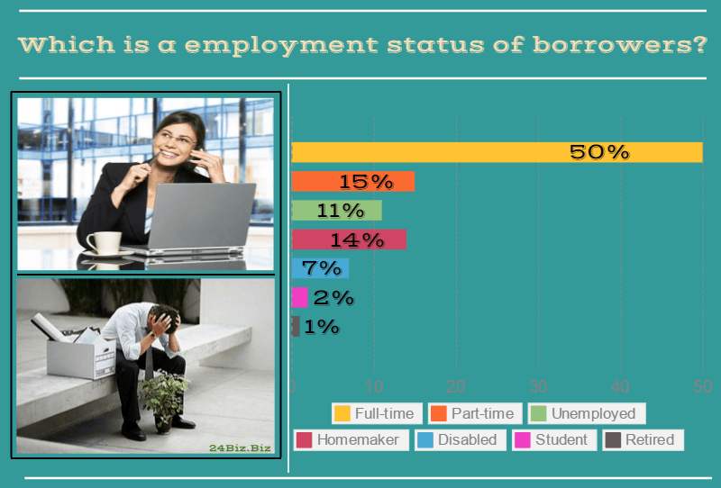 employment status of payday loan borrowers in New Hampshire USA
